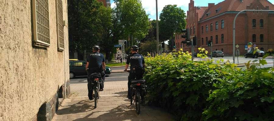Mieszkańcy Mrągowa już mogą spotkać policyjne patrole rowerowe