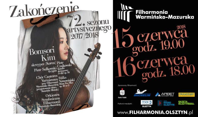 Zakończenie 72.sezonu artystycznego  2017/2018 Filharmonii Warmińsko-Mazurskiej - full image