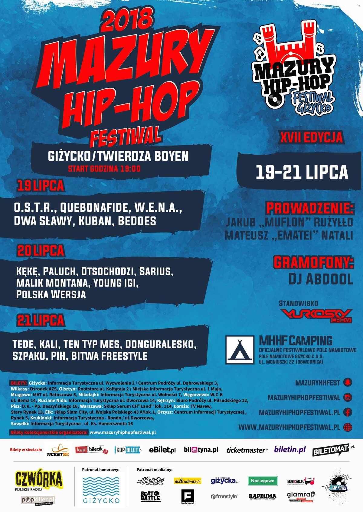 Mazury Hip-Hop Festiwal Giżycko 2018 - 19-21 lipca  - full image