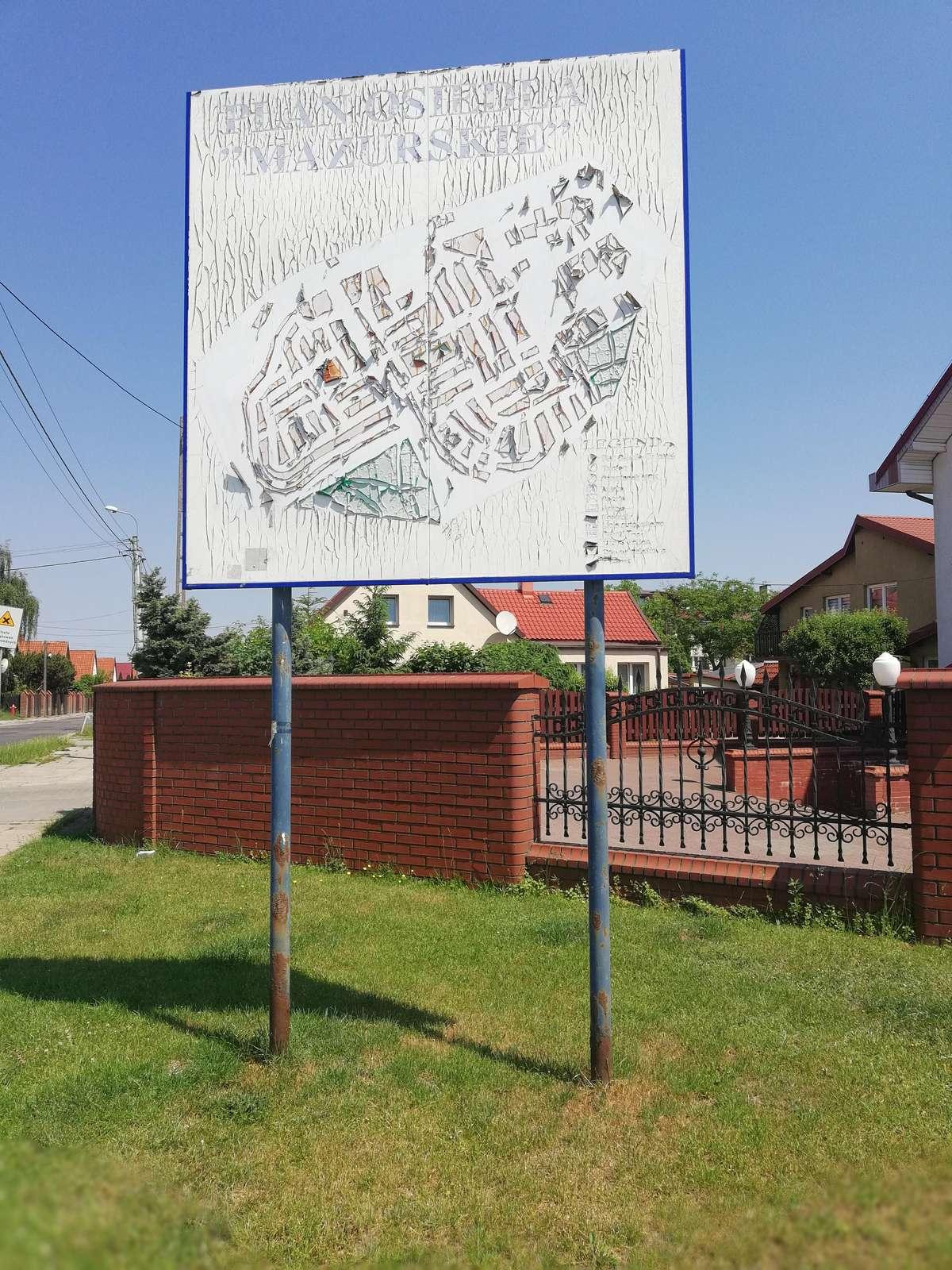 Tablica z planem Osiedla Mazurskiego- 2018r.