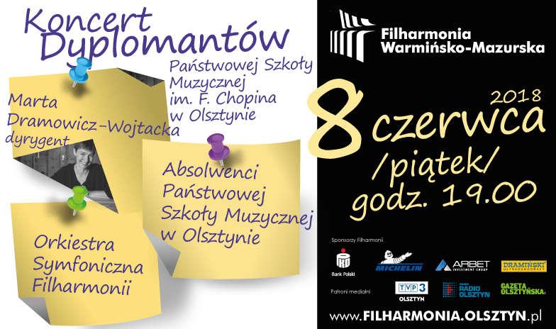 Koncert dyplomantów Państwowej Szkoły Muzycznej II stopnia w Olsztynie - full image
