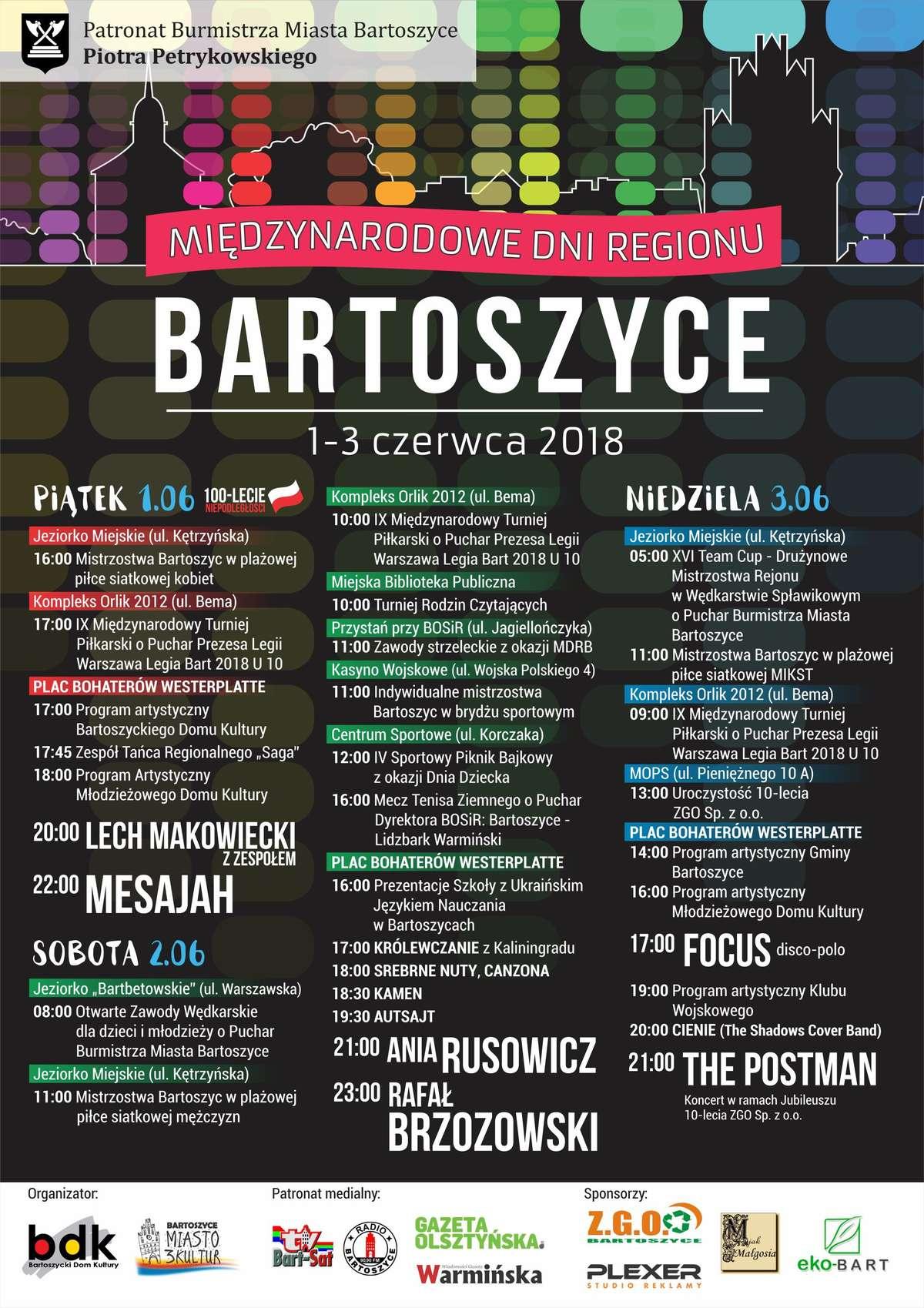 Międzynarodowe Dni Regionu Bartoszyce 2018 - full image