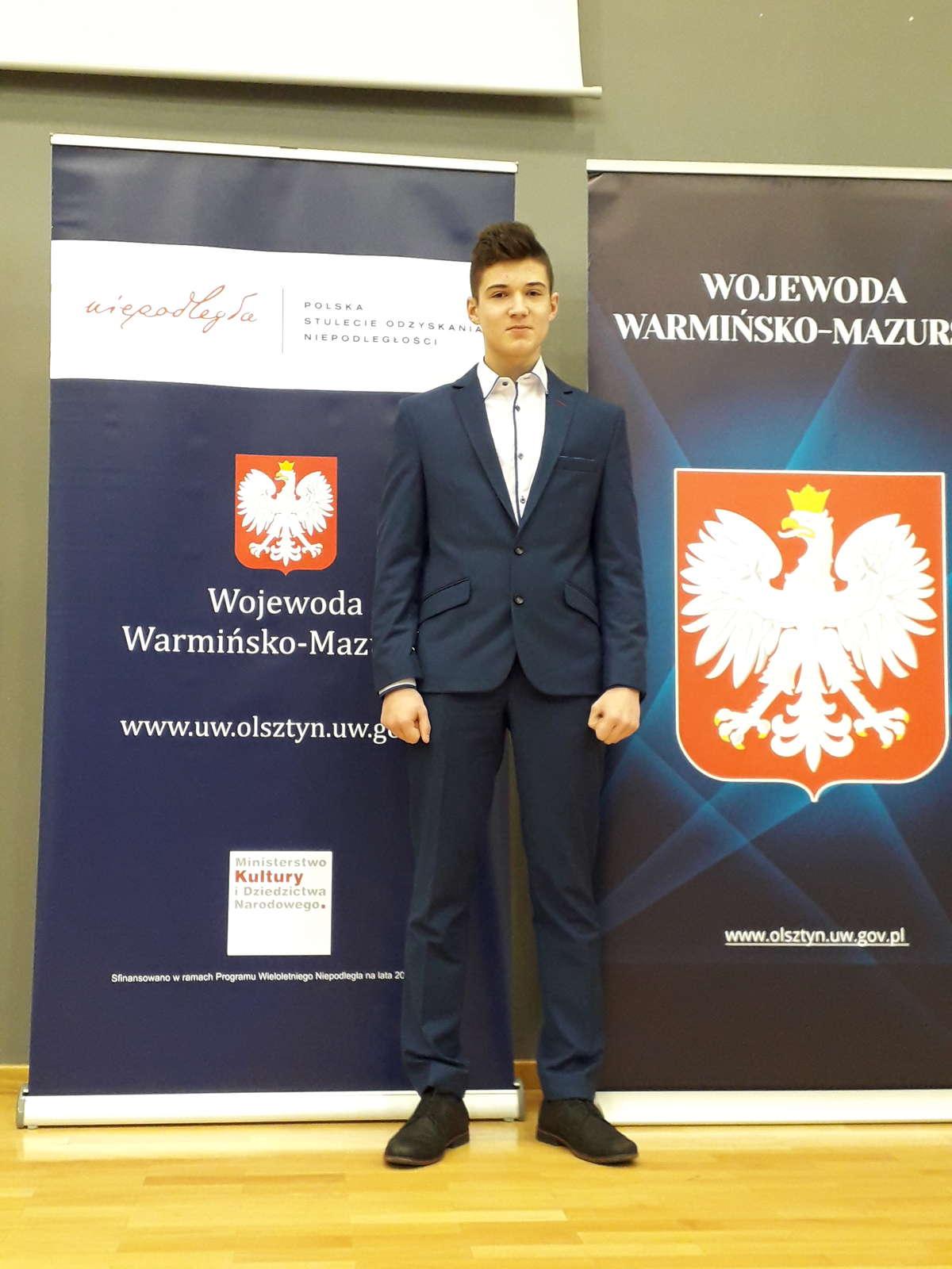 Kamil wśród nagrodzonych w Olsztynie