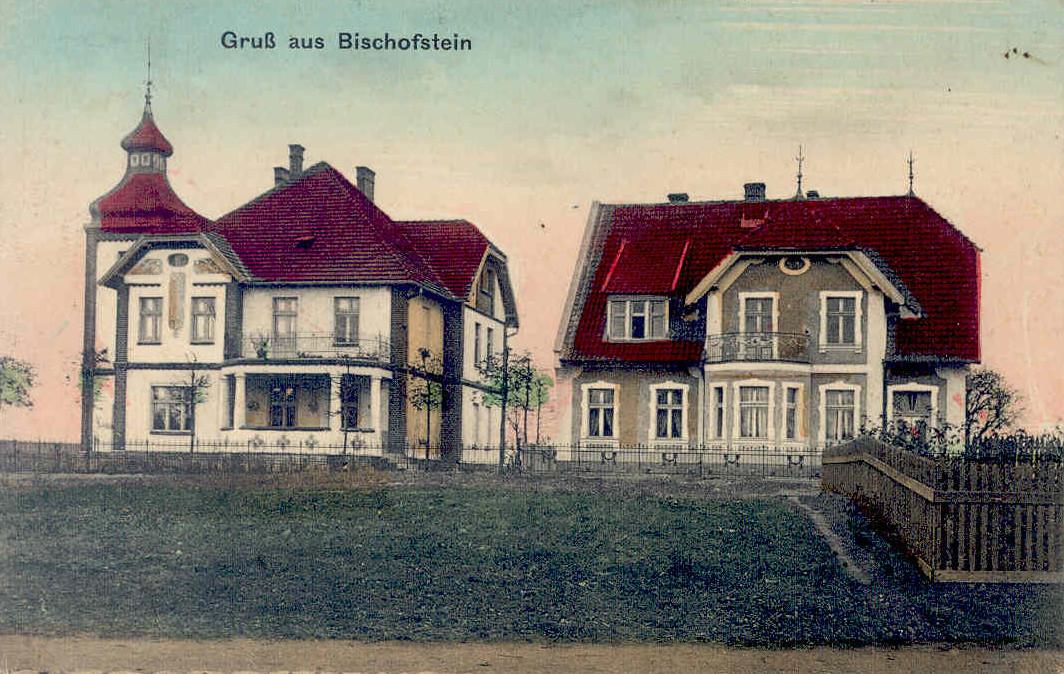 W willi po lewej stronie najprawdopodobniej mieszkał leśniczy. To w niej znaleziono starą mapę leśnictw nad jeziorem Kiermas. W willi po prawej wicedyrektor szkoły w Bisztynku Leo Chmielewski.