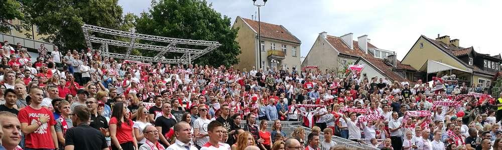 Setki osób w strefie kibica w Olsztynie [ZDJĘCIA]