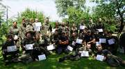 Uczniowie mundurówki na obozie wojskowo - taktycznym