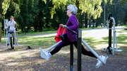 Mobilny punkt budżetu obywatelskiego stanie przed elbląskim Ratuszem