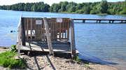 Lato nad jeziorem Sajmino bez pomostów