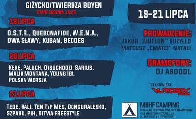Mazury Hip-Hop Festiwal Giżycko 2018 - 19-21 lipca