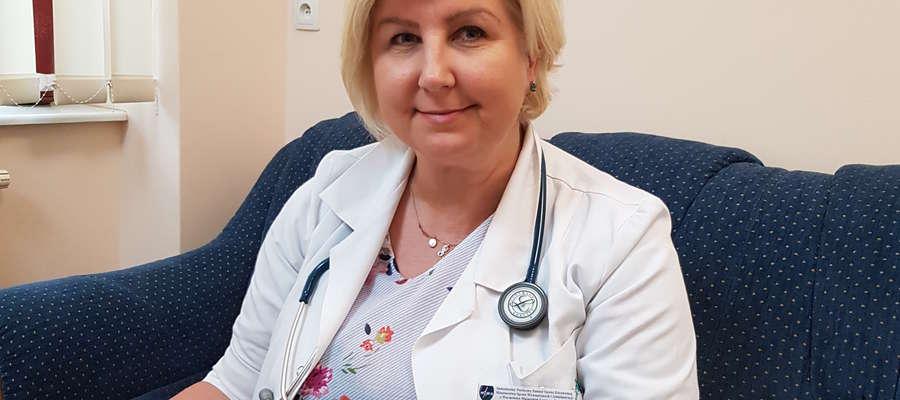 Dr Ewa Wasilewska-Teśluk kieruje Działem Radioterapii, Oddziałem Klinicznym Radioterapii i Poradnią Radioterapii
