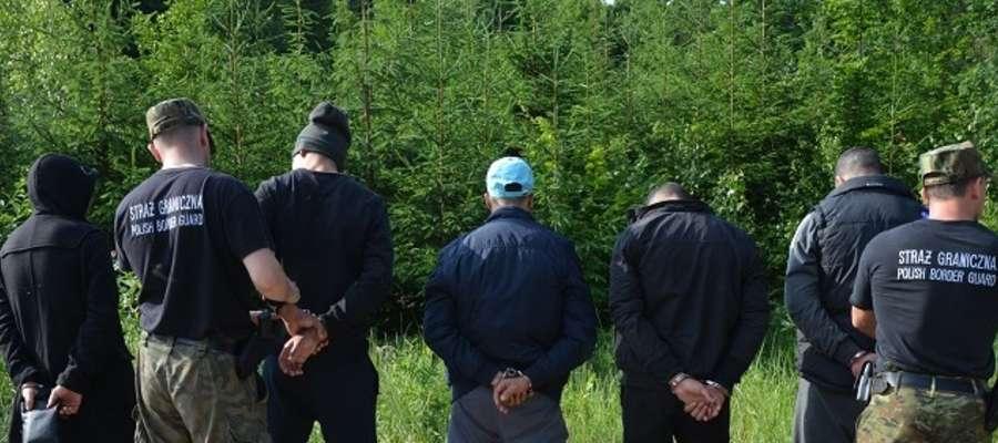 Zatrzymanie osób, które przekroczyły tzw. zieloną granicę z Federacją Rosyjską.