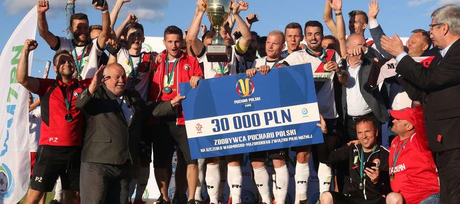 Piłkarze z Morąga po raz trzeci w historii triumfowali w finale Wojewódzkiego Pucharu Polski