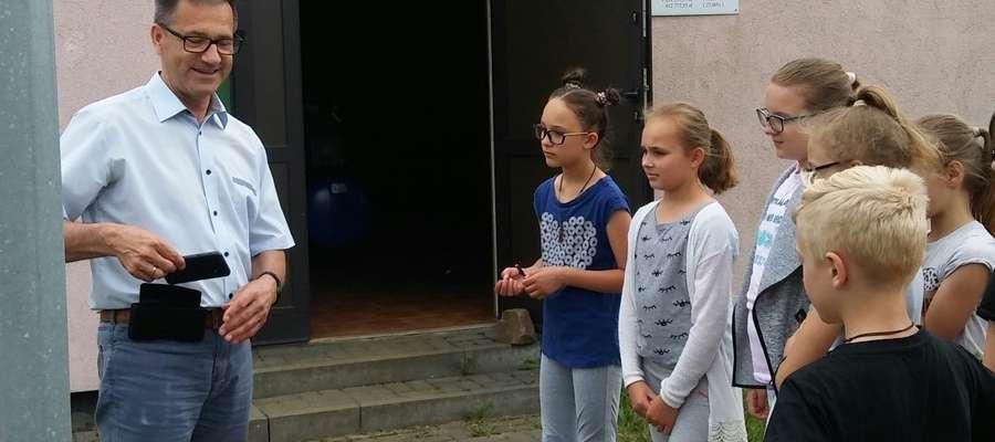 Uczniowie z Mroczna podczas nietypowej lekcji