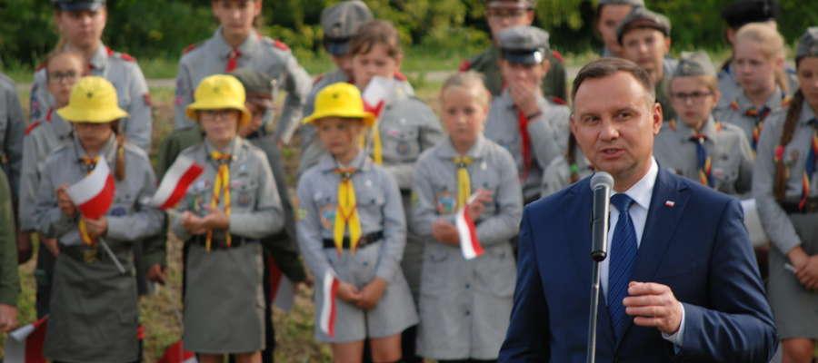 Prezydent RP, Andrzej Duda w Makowie Mazowieckim