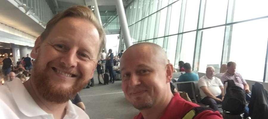 Grzegorz Jatkiewicz (z lewej), ostródzianin w Moskwie, który podzieli się z nami ciekawostkami jakich nie zobaczycie w telewizji
