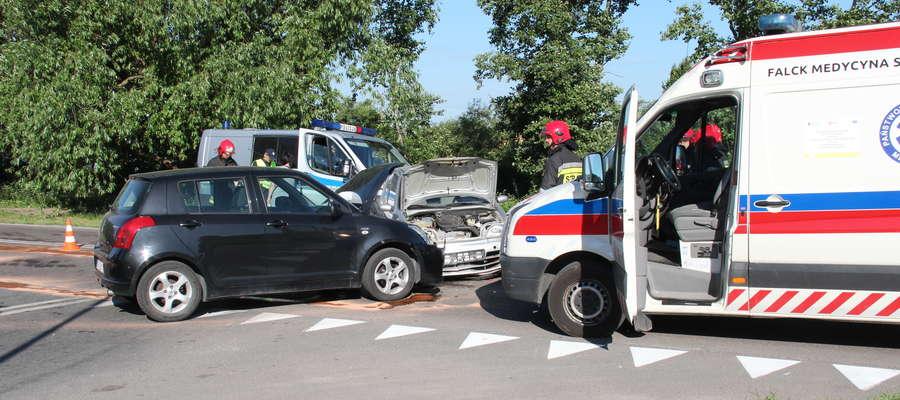 Zderzenie aut na ul. Obwodowej w Giżycku