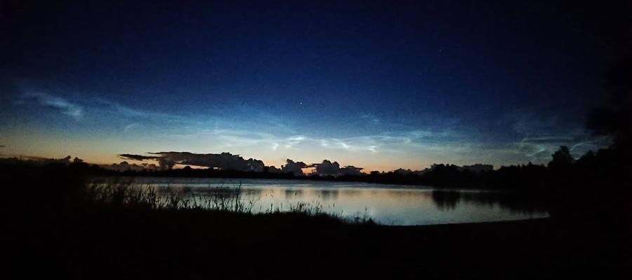 Nocą nad jeziorem Kinkajmskim.