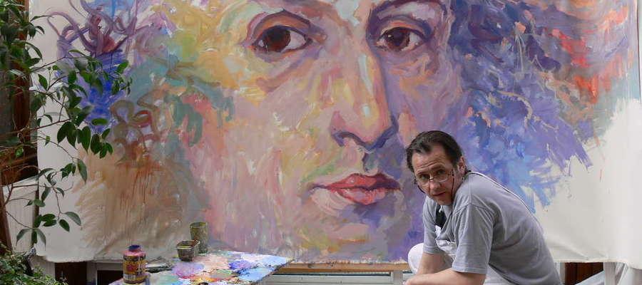 Majestatyczny portret Fryderyka Chopina wypełnił wnętrze głównej sali Oranżerii Kultury.