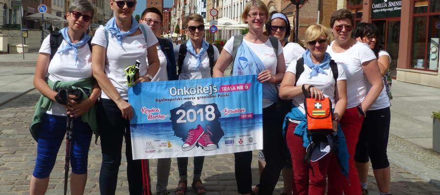 Uczestniczki Onkorejsu 2018 w Elblągu