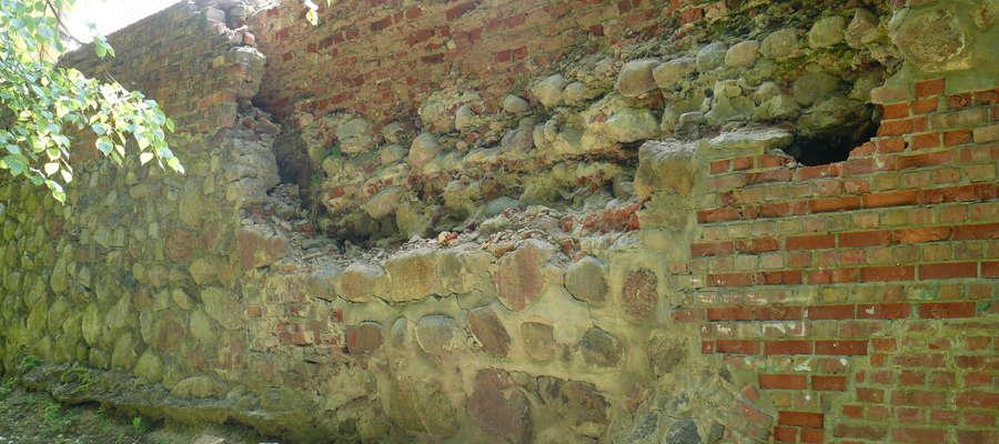 Północno-wschodnia część murów w Pasłęku pilnie potrzebuje remontu