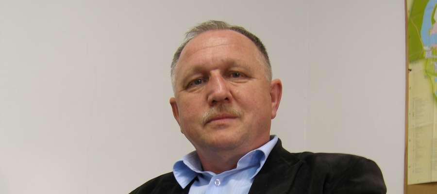 Krzysztof Bączek, (jeszcze) prezes i główny sponsor Unii Susz