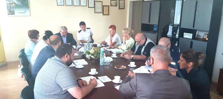 Posiedzenie Komisji Bezpieczeństwa i porządku Publicznego Powiatu  Lidzbarskiego