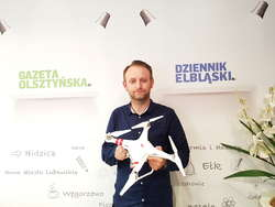 Rafał Wolak - założyciel szkoły operatorów dronów