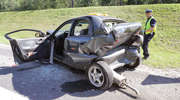 Wypadek na DK16. Kobieta została przetransportowana śmigłowcem do szpitala [ZDJĘCIA]