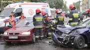 Wypadek na al. Wojska Polskiego w Olsztynie. Trzy osoby ranne