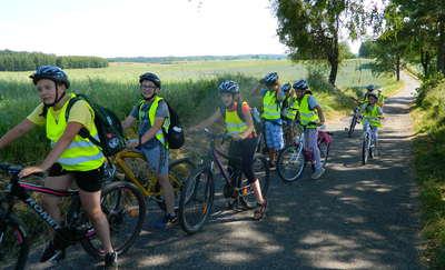 Rajd rowerowy uczniów ze szkoły w Galinach. ZDJĘCIA