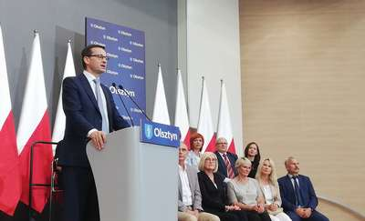 Premier Mateusz Morawiecki z wizytą w Olsztynie [ZDJĘCIA, VIDEO]