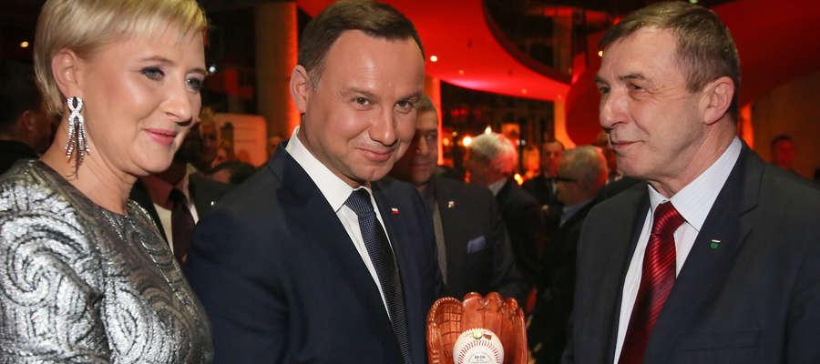 Zdzisław Ziółkowski z prezydencką parą