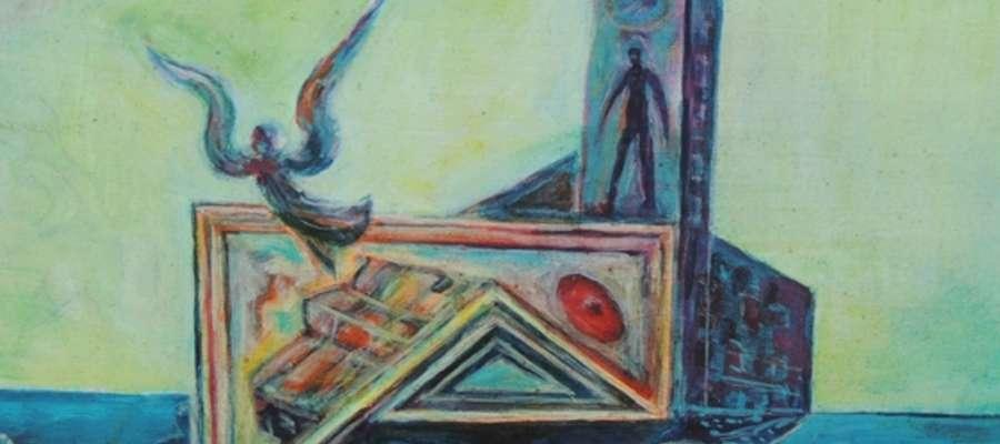 Jeden z obrazów Zygfryda Komorowskiego