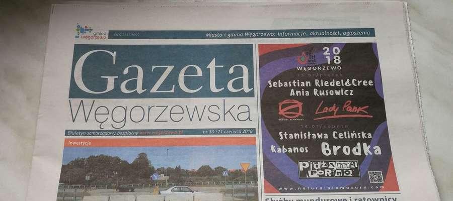 """Zdaniem rzecznika wydawanie tytułów prasowych przez samorządy może być zagrożeniem dla wolności słowa. Na zdjęciu """"Gazeta Węgorzewska"""" - gminny biuletyn"""