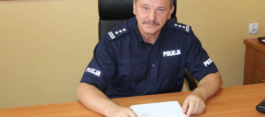 Komendant KPP Żuromin insp. Witold Lemański