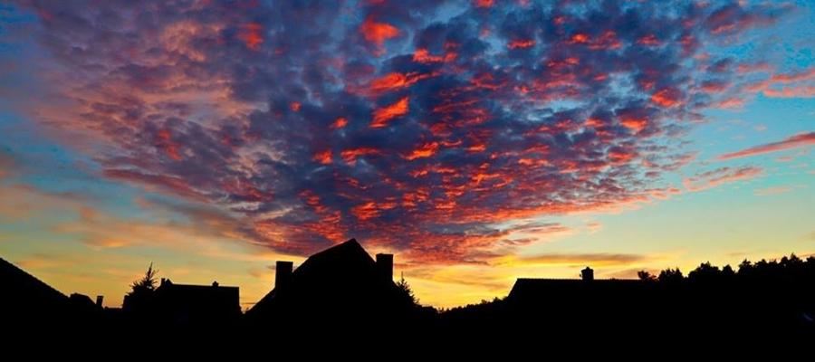 """""""Bartoszyce sunset"""". Zachód słońca w Bartoszycach"""