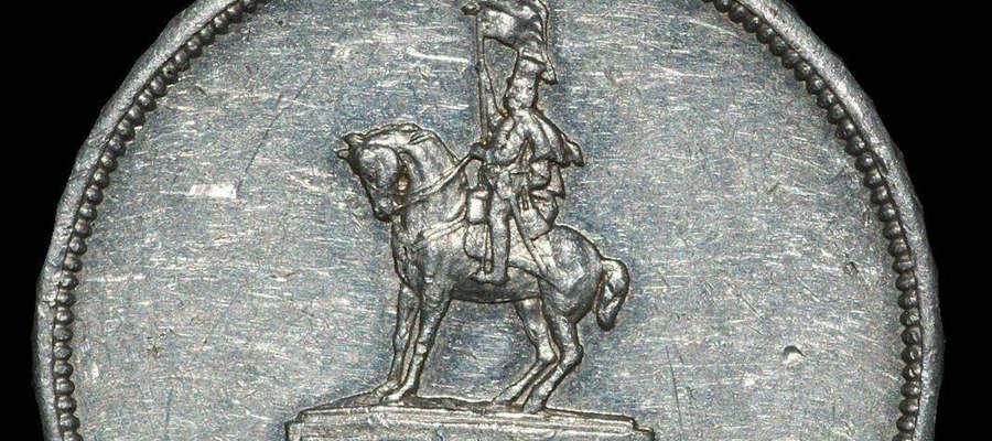 Medal to bardzo rzadka pamiątka związana z pomnikiem Czarnego Huzara, który stał kiedyś na Placu Wolności.