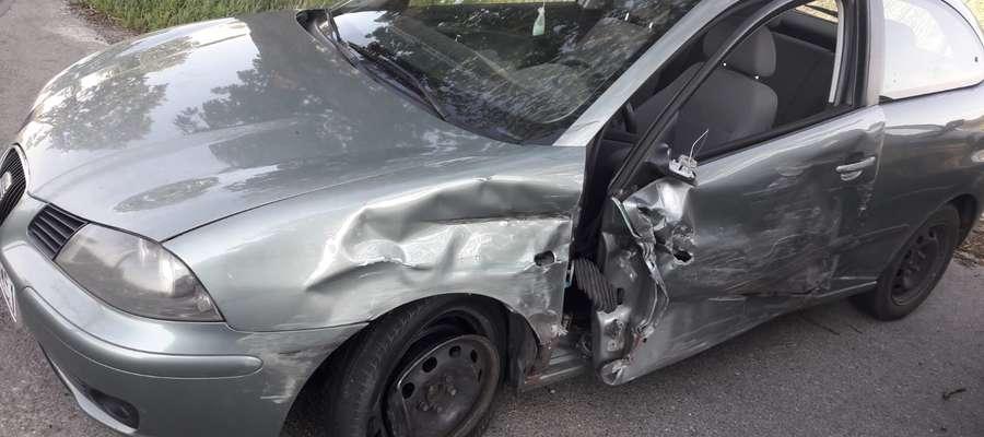 Uszkodzony Seat Ibiza