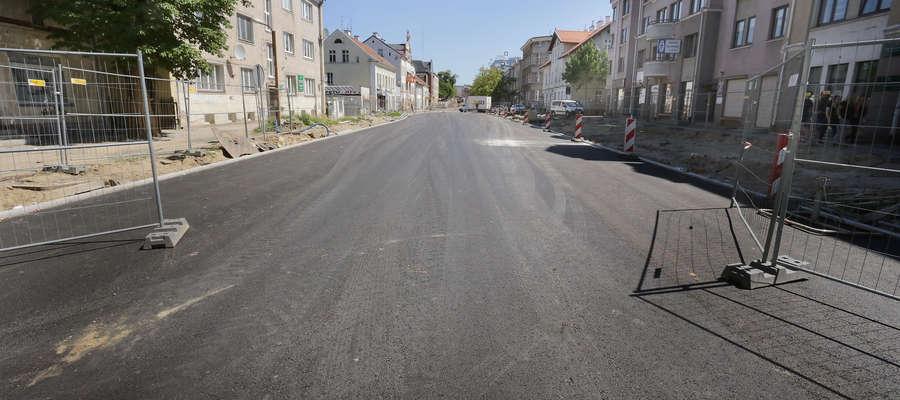 ul. Partyzantów pierwszy odcinek, jest już asfalt