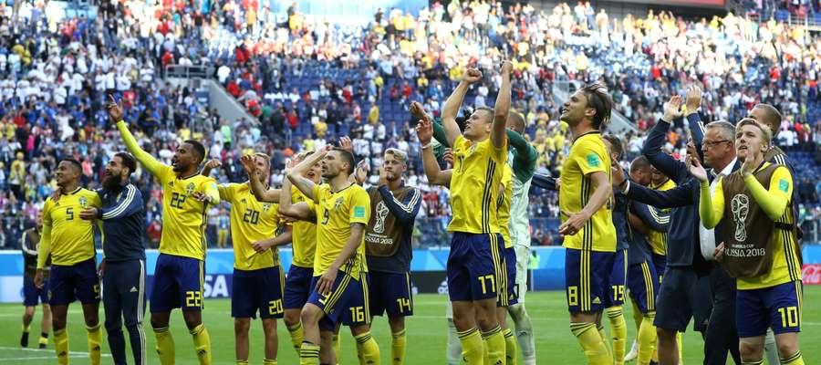 Radość szwedzkich piłkarzy