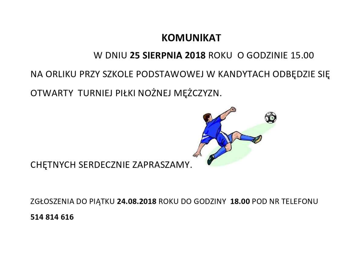 Zapraszamy na turniej piłkarski na Orliku - full image