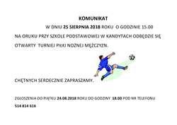 Zapraszamy na turniej piłkarski na Orliku