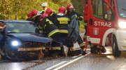 """Poważny wypadek na krajowej """"15"""" w Lubawie"""