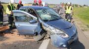 Wypadek na DK 16. Dwie osoby w szpitalu