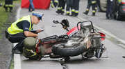 Dramatyczny wypadek na trasie Olsztyn - Szczytno. Nie żyje dwoje motocyklistów [ZDJĘCIA]