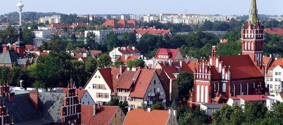 Panorama Kętrzyna - widok z wieży bazyliki św. Jerzego