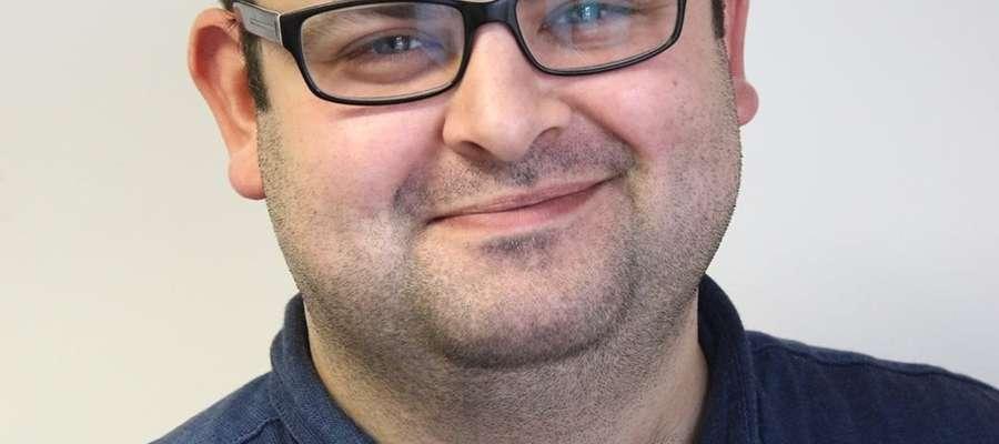 """Mateusz Przyborowski, szef Działu Informacji Multimedialnej """"Gazety Olsztyńskiej"""""""