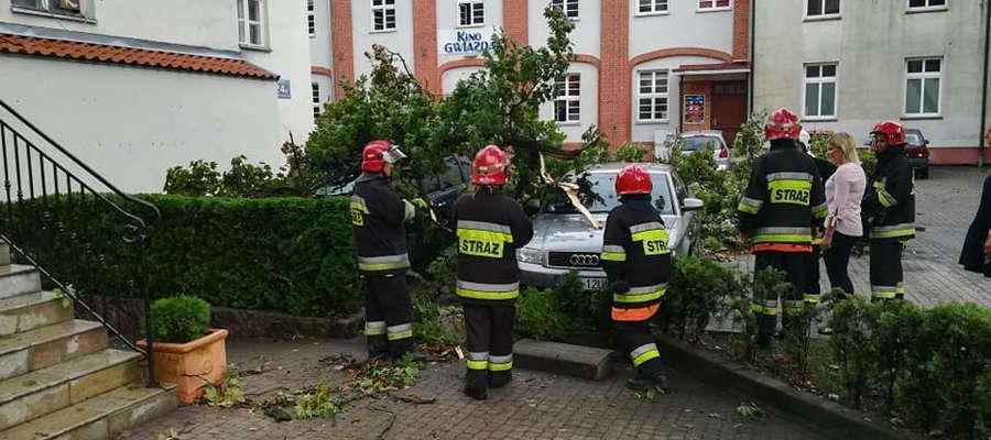 Strażacy przez kilka godzin usuwali skutki załamania pogody.