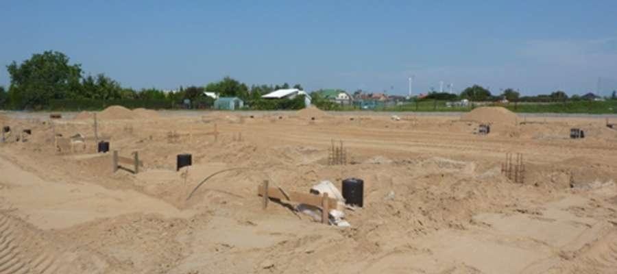 Trwają prace budowlane hali targowej