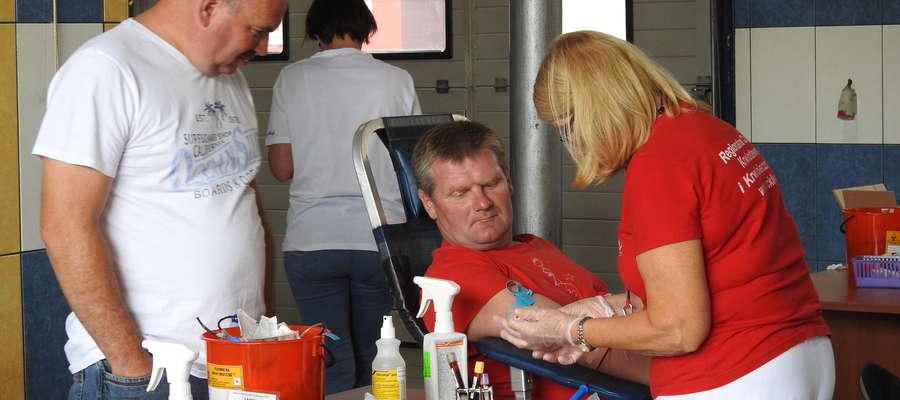 Podczas ostatniego poboru krwi w KP PSP